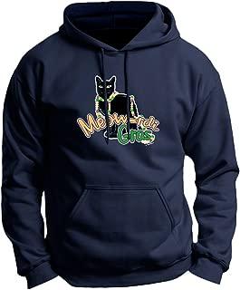 Meow-rdi Gras Funny Cat Mardis Gras Beads Premium Hoodie Sweatshirt