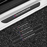 LHRLBB 4 Piezas Fibra Carbono Protectores Umbral Puerta Coche, para BMW E30 E36 E39 E46 E60 E87 E90 F10 F20 F30 Bienvenida Estilo Pedal Protección Pegatina Decorativos Accesorios