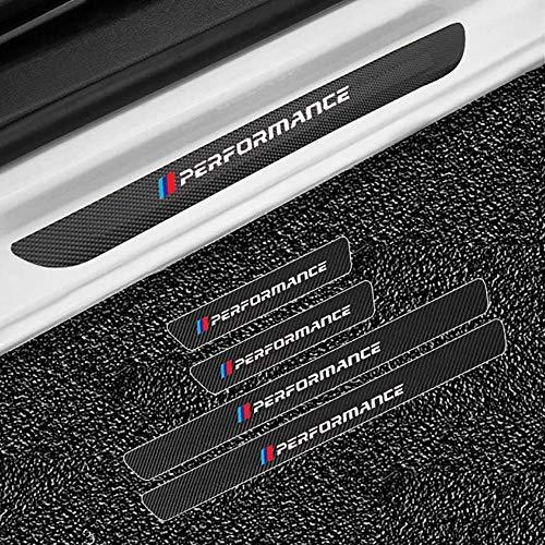 LHRLBB 4 Piezas Fibra Carbono Protectores Umbral Puerta Coche, para BMW E30...