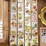 Pegatinas Tema,Pegatinas para niños,Etiquetas de Viaje Vintage,Pegatinas de Equipaje,Plantas Autoadhesivas Pegatinas,Calcomanías de Animales,Sticker Pack Retro,Decoración Scrapbooking Álbumes (B)