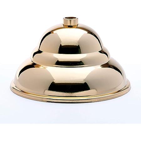 Baldachin silber Nickel poliert flämische Form ø 90 H 61mm Lampenbaldachin