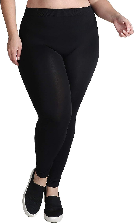 NIKIBIKI Women Seamless Ankle Length Leggings, Plus Size