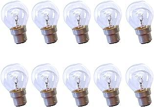 Lot de 10 ampoules sphériques à incandescence clair b22 b22d 40 w