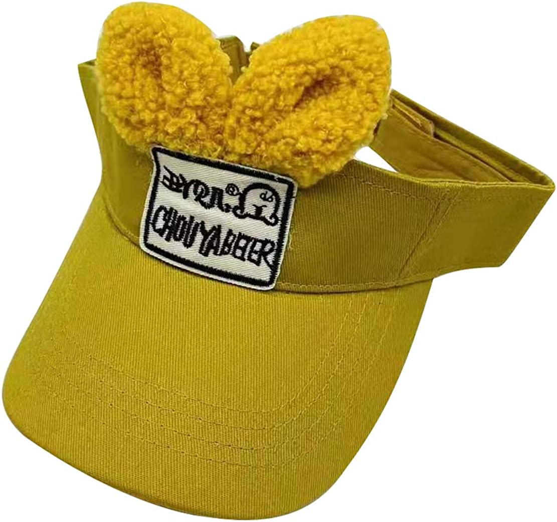 YueLian Bunny Hat Girls Sun Hats Summer Visor for Girls