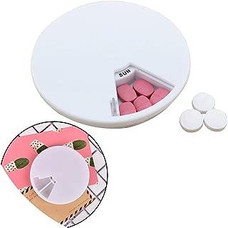 Organizer Round Tablet Pill Holder Drug Organizer Medicine Storage Pill Cases Mini Pill Box 7 Days Weekly