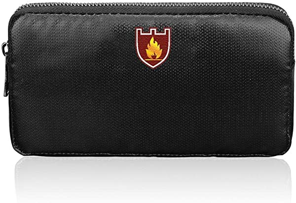 Fireproof Money Bag 4 3 7 87 Waterproof And Anti Signal Interference Envelope Small Fire Resistant Safe Storage Pouch Sleeve Wallet For Document Cash Cell Phone Bank Deposit And Passport