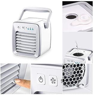 Mini Aire Acondicionado Portátil, Aire Acondicionado con Ventilador y humidificador y Purificador,Aire Enfriador Evaporativo de 3 velocidades,silencioso y Discreto