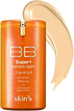 [SKIN79] Super Plus Beblesh Balm Triple Function Orange BB Cream #21 Yellow Beige (SPF50/PA+++) 1.35 fl.oz. (40 ml) - Rich Vitamin Complex Care Healthy and Vital Skin, High Coverage without Darkening