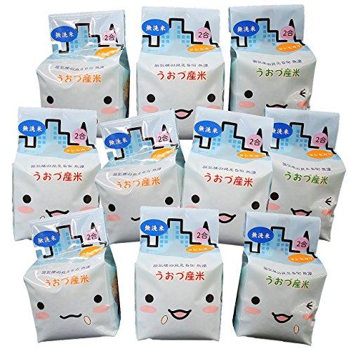 【精米】無洗米 JAうおづ産コシヒカリ ご当地キャラクターミラたんの「キューブ米」3kg (2合袋:300g×10個) 令和元年度産