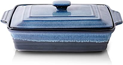 KOOV Ceramic Casserole Dish with Lid, Covered Rectangular Casserole Dish Set, Lasagna Pans with Lid for Cooking, Baking di...