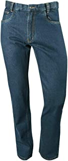 MB CLOTHING Expandable Waistband Denim Jeans Concealed Side Elastic Regular Fit Sizes 32-48