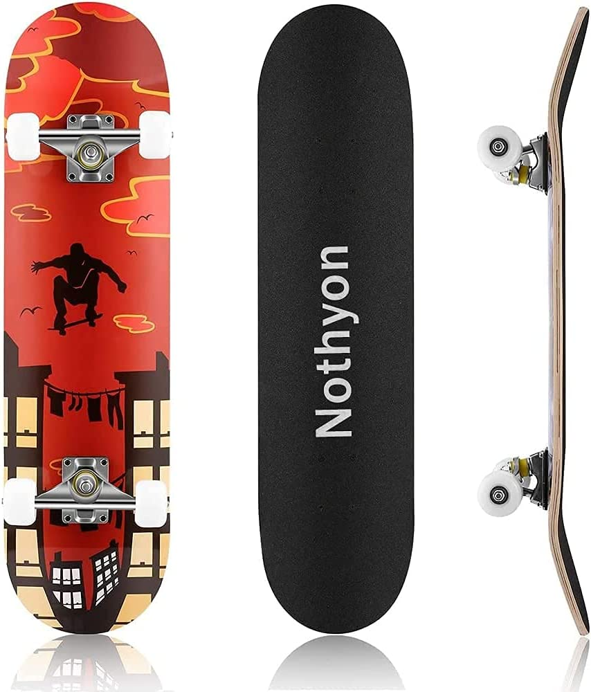 Nothyon Skateboard for Beginners Safety and trust New Free Shipping Kids Boys