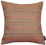 McAlister Textiles Colorado | Sofakissen mit Füllung in Terracotta Orange | 40 x 40cm | Gewobenes...