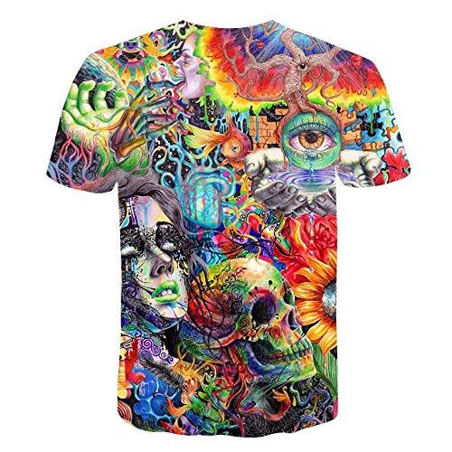 LKFTH Lustige Physik Formel Mathe T-Shirt 3D-Druck O-Ausschnitt Herren T-Shirts 3D Loose Streetwear Geek T-Shirts Herren M As Show B