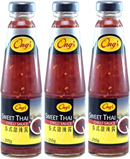 Ong's Sweet Thai Chili Sauce, 255g, Pack of 3, Product of Singapore