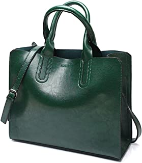 Leather Handbags Big Women Bag Casual Female Bags Trunk Tote Spanish Shoulder Bag Large Handbags green