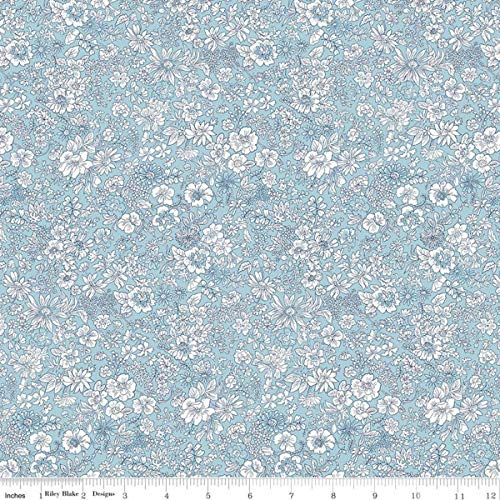 Liberty London-Flower Show Spring-Emily Silhouette Blue