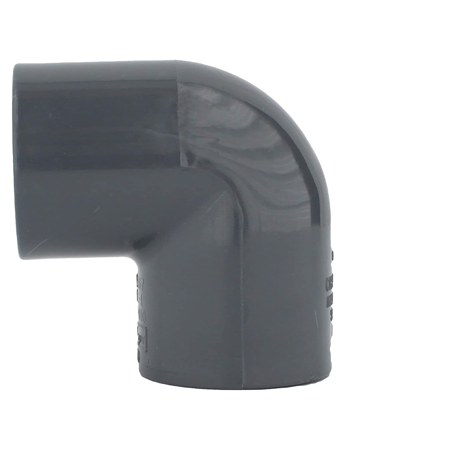 Charlotte Pipe 1 90 Degree Elbow Pipe Fitting - 10 Unit Box Schedule 80 PVC Pressure Durable High Tensile and Sound Deadening for Home or Industrial Use Easy to Install Socket x Socket