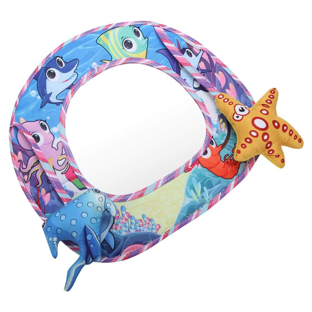 Odorless Baby-in-Sight Mirror, Clear Baby-in-Sight Mirror, Non-Toxic Safe Baby-in-Sight Mirror Durable Plastic Long time use for Keep Your Baby Safe(Ocean Mirror)