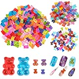 WXJ13 300 Pcs Gummy Bear Nail Charms 3 Styles Resin Charms Resin Flatback Bear Candy Gummy Bear Charms Bear Cabochons for Nail Art Supplies Jewelry Making DIY Craft