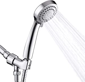 Aisoso Handheld Shower Head High Pressure with Hose Bracket and 3 Spray Settings Hand held Showerhead, Chrome