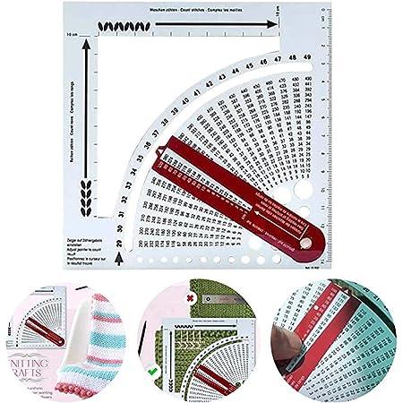 Plastique Prym 611735 Calculateur de Tricotage Blanc Mailles et Rangs 15 x 15 x 1 cm