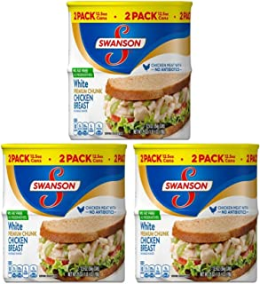 Swanson Premium White Chunk Chicken Breast, 12.5 oz. Can - Pack of 6