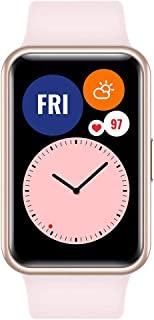 ساعة هواوي واتش فيت الذكية مع هيكل معدني نحيل وشاشة فيفد اموليد 1.64 انش، رسوم متحركة سريعة، عمر بطارية حتى 10 ايام، كشف ت...