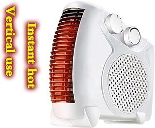 Calentador de ventilador eléctrico portátil vertical y de cama plana Sistema de seguridad de ahorro de energía, sobrecalentamiento e inclinación Radiador de la habitación para escritorio Oficina