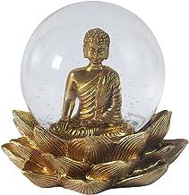 Baoblaze Ancient Seated Buddha Statue Thai Sitting Figurines Office Sculpture Praying Buddha Yoga Room Meditation Altar Ga...