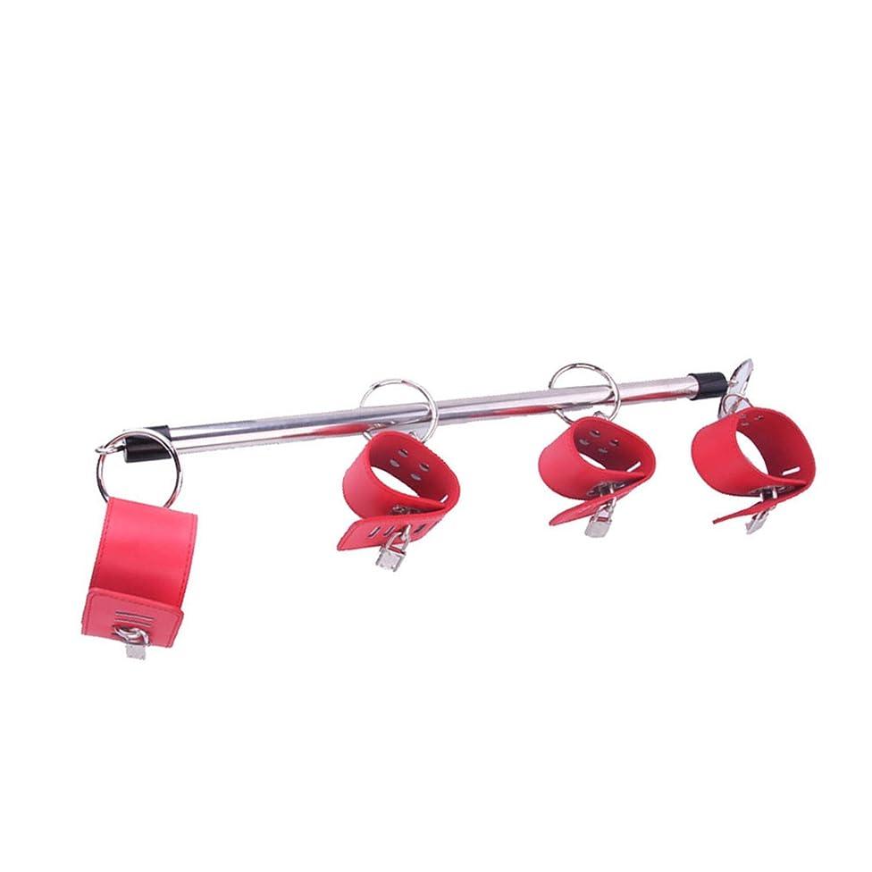 Couples Hoodies Bundles Toys Toys Stainless Steel Adjustable Spreader Bar Bondage Set UniSix Six Slave Handcuffs Ankle Cuffs Fetish Restraints Shackles,