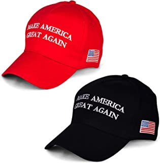 Make America Great Again Hat [2 Packs], Keep America Great Hat, Donald Trump 2020 USA MAGA Cap Adjustable Baseball Hat