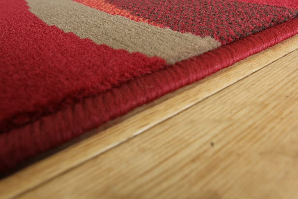 Manufacturer direct delivery Milan Red Brown Burnt Orange Waves Roo overseas Traditional Living Modern