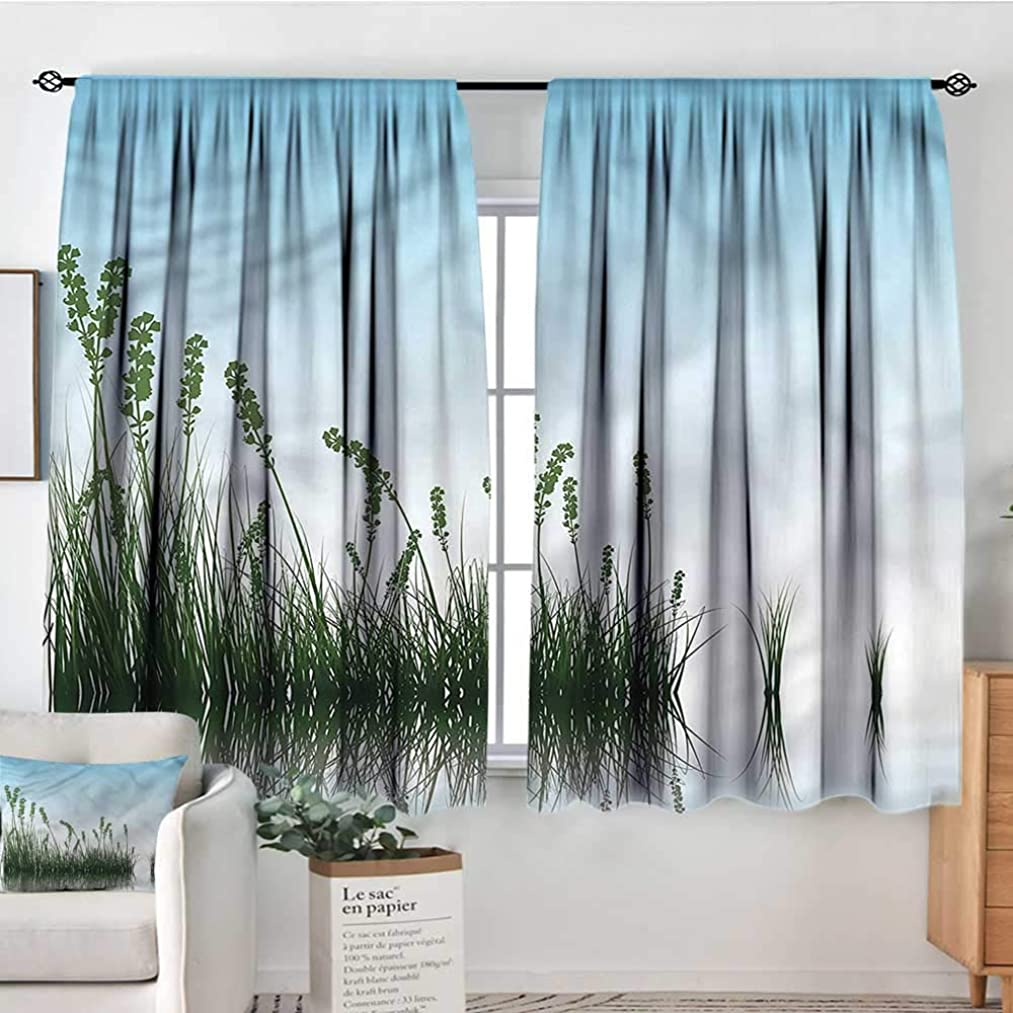 Sanring Landscape,Kid's Customized Curtains Scenery Lake Bushes 52