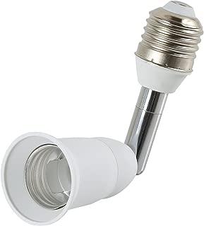 Electop Light Socket Extender 90 Degree Bending E27 to E27 Bulb Base Lamp Holder 180 Degree Adjustable Adapter