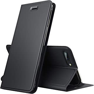 Verna iPhone 7 Plus/iPhone 8 Plus Case, PU Leather Flip Folio Case, Slim Fit Purse Walletwith Card Holder, Compatible with Apple iPhone 7 Plus/iPhone 8 Plus - Charcoal