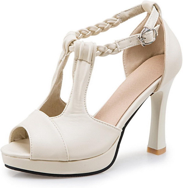 AN Womens Cold Lining Peep-Toe Non-Marking Urethane Sandals DIU00779