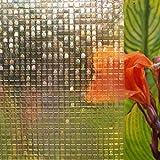 Película electrostática de Mosaico 3D Pegatina de Vidrio Esmerilado Opaco de privacidad película de decoración de Vidrio para Puertas y Ventanas A 60x100cm