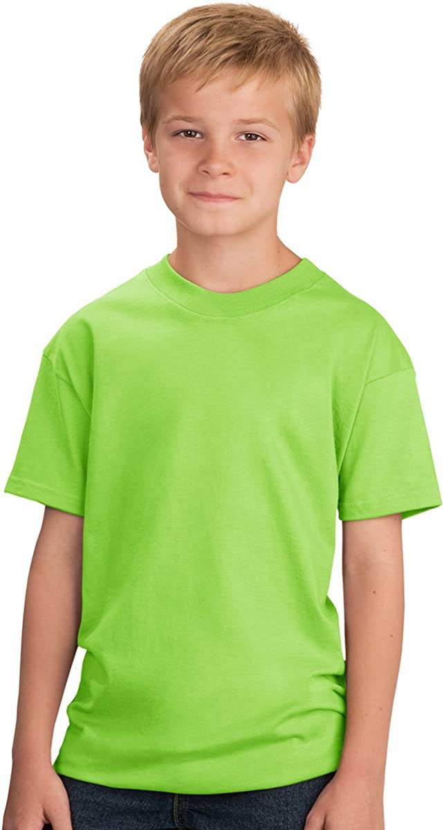 Port & Company Youth Unisex 100% Cotton T-Shirt Small Lime