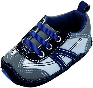Infant Boys Blue & Gray Tennis Shoes Soft Baby Crib Shoes