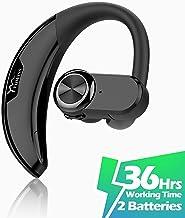 YUWISS Bluetooth Headset [36Hrs Playtime, 2 Batteries, V4.2] Wireless Bluetooth Earpiece..