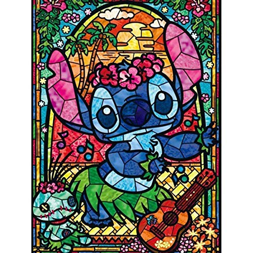 LPRTALK DIY 5D Diamond Painting by Number Kit for Kids, Diamonds Painting for Children Full Round Drill Lovely Cartoon Rhnestone Embroidery Arts Craft Kits for Home Wall Decor 14X18 inches