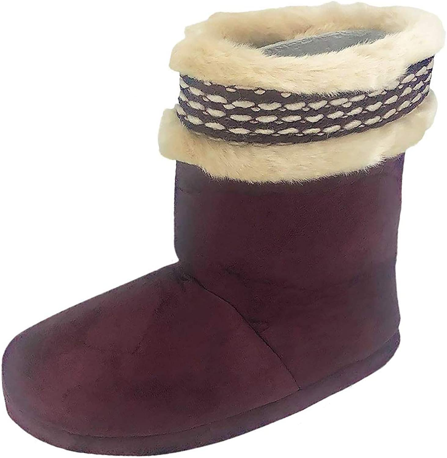 Isotoner Women's Woodlands Cozy Boot Slippers- Enhanced Heel Cushion