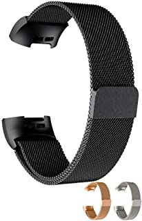 【 簡単脱着 】monoii Fitbit Charge3 交換 バンド フィットビット チャージ 3 対応 ベルト ステンレス