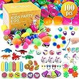 Satkago 100 uds Huevos de Pascua de Juguete, Huevos de Plástico de Colores...