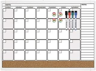 Quartet Combination Magnetic Whiteboard Calendar & Corkboard Value Pack, 17
