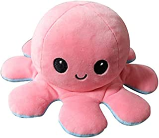 1PCS Reversible Octopus Plushie Soft Plush Toy Pillow Pet Animal Birthday Gift Doll Flip Toy Companion Toy Plush Stuffed S...