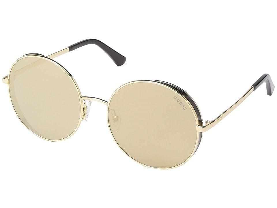 GUESS GU7606 (Shiny Gold/Gold Mirror Lens) Fashion Sunglasses