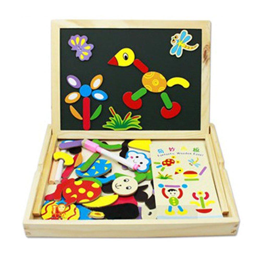 拇指奇特 奇妙画板 儿童拼图画板 双面磁性拼拼学画板 加强宝宝动手能力