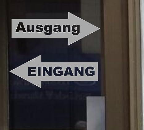 Eingang Ausgang Aufkleber Tür Aufkleber 217//3